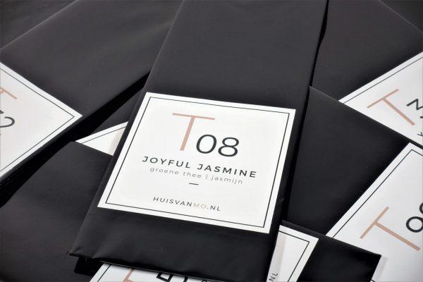 deze heerlijke jasmijn thee T08 JOYFUL JASMINE heeft een delicate bloemige smaak
