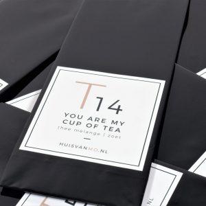 een thee vol liefde, deze heerlijk zoet theemelange T14