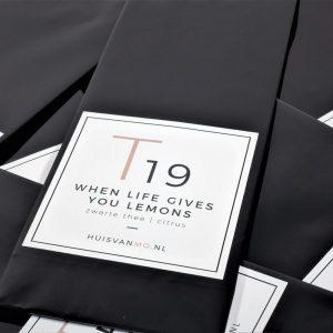 lekkere zwarte thee met citroen, ook heerlijk voor ijsthee
