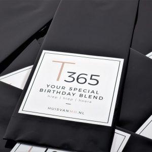 speciale thee voor je verjaardag, T365 YOUR SPECIAL BIRTHDAY BLEND, hoe feestelijk is dat!