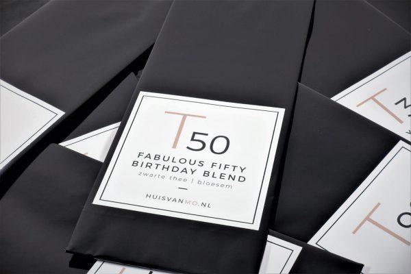 Super leuke en lekkere 50 jaar verjaardagsthee T50 FABULOUS FIFTY BIRTHDAY BLEND