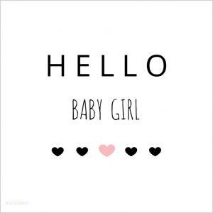 lieve, toffe XL babykaart voor een meisje, aan 2 kanten bedrukt met een leuke tekst