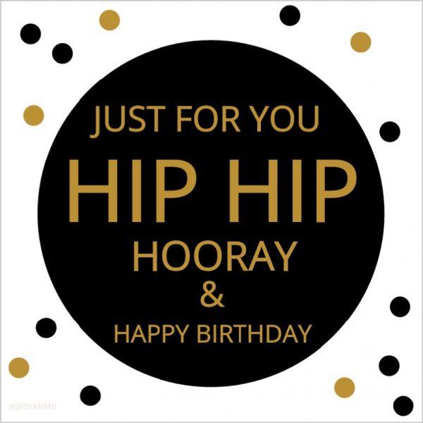 leuke verjaardagskaart, die aan 2 kanten bedrukt is, zodat hij ook na je verjaardag leuk blijft!
