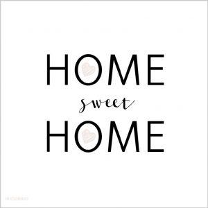 deze dubbelzijdige home sweet home kaart is een leuke en originele felicitatie voor een nieuw huis