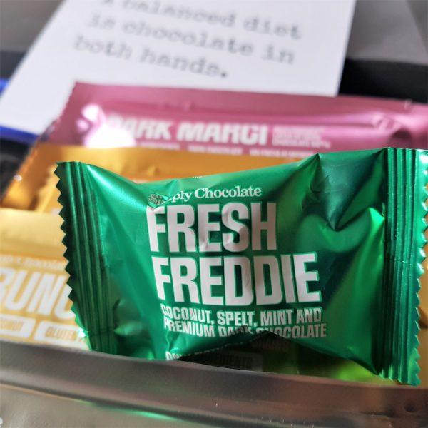 chocolade pakket met Fresh Freddie chocolaatje