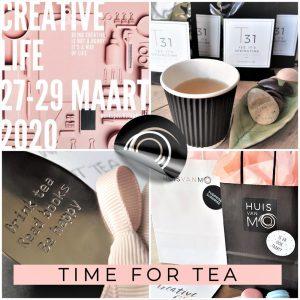 theeproeverij op Creative Life, een heerlijk relaxte workshop Tea for Me