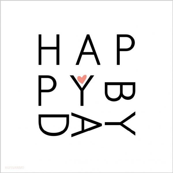 een hele leuke, originele verjaardagskaart HAPPYBDAY, met op de achterkant de tekst No Rain No Flowers